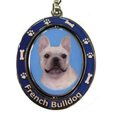 French Bulldog Frenchie Dog Spinning Keychain