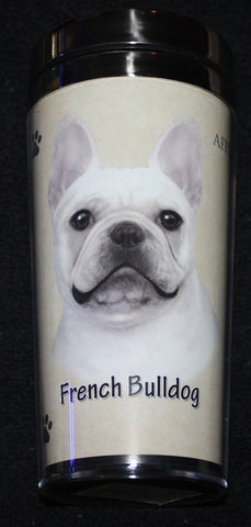 French Bulldog Stainless Steel Travel Tumbler