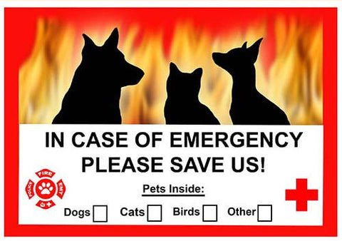 Generic Dog Emergency Window Cling