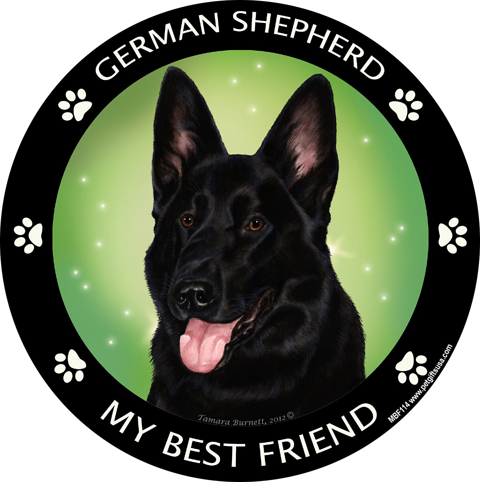 German Shepherd Black My Best Friend Dog Breed Magnet