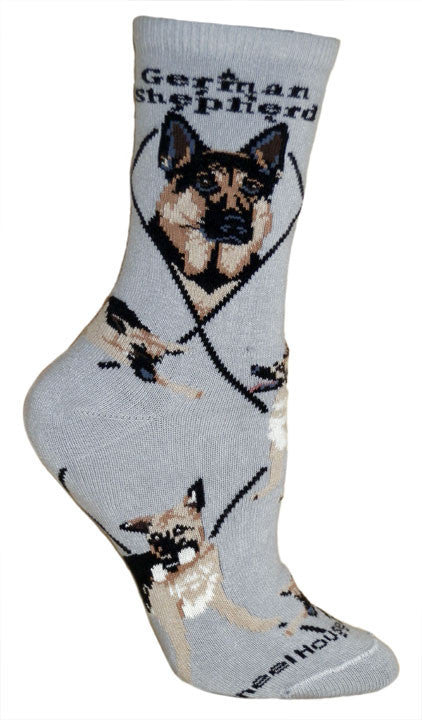 Have one to sell? Sell now Details about  German Shepherd Dog Breed Gray Lightweight Stretch Cotton Adult Novelty Socks