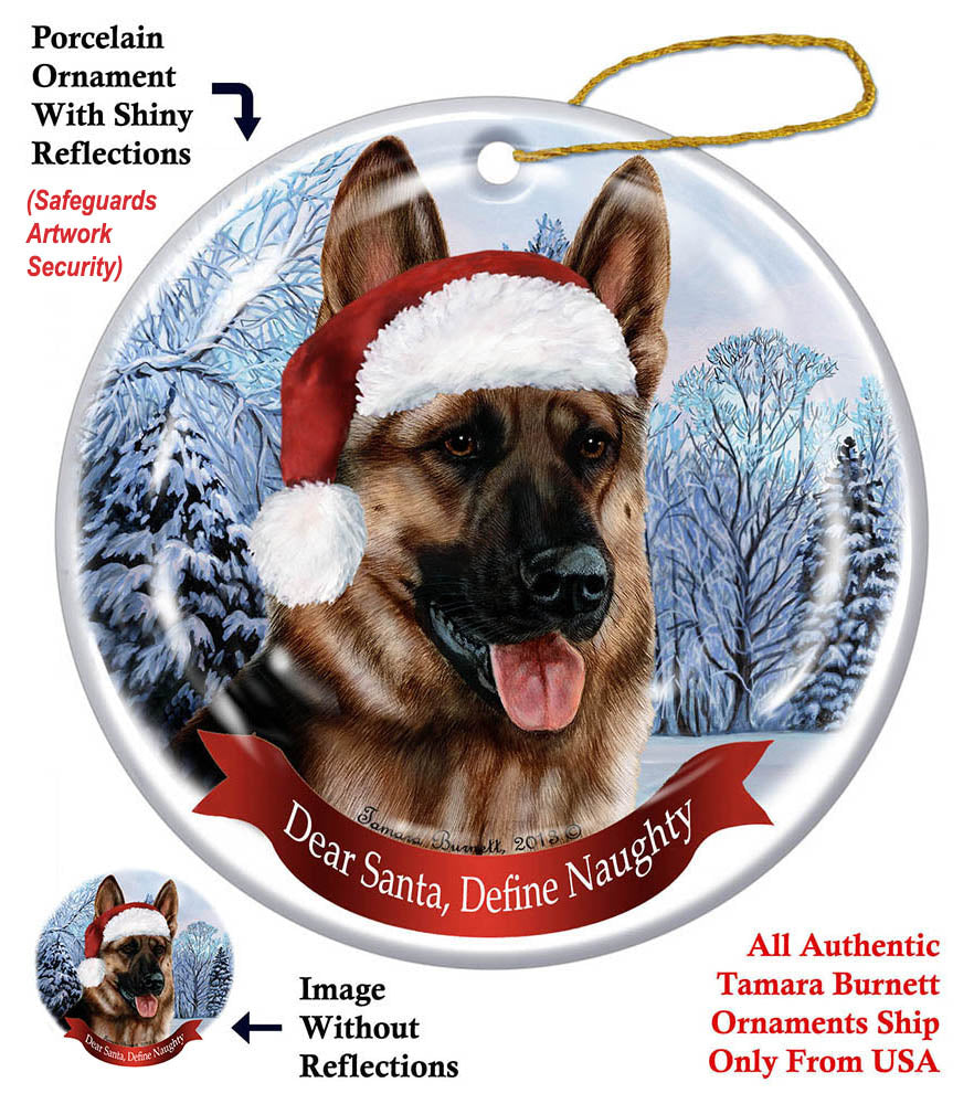 German Shepherd Howliday Dog Christmas Ornament