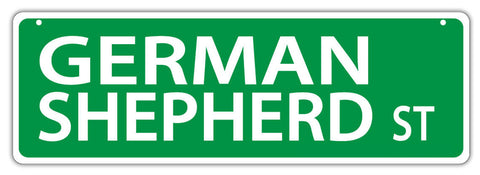 German Shepherd Dog Breed Street Sign