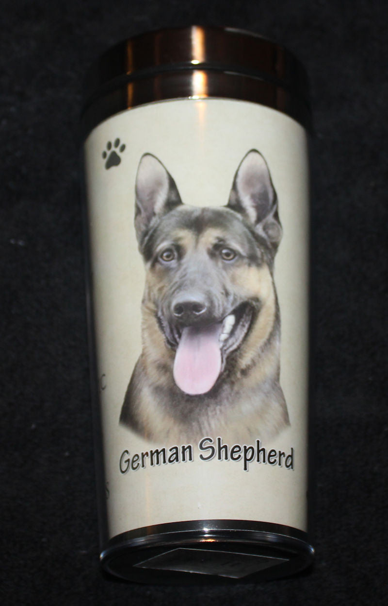 German Shepherd Stainless Steel Travel Tumbler