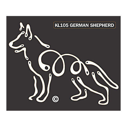 K line german shepherd dog car window decal tattoo