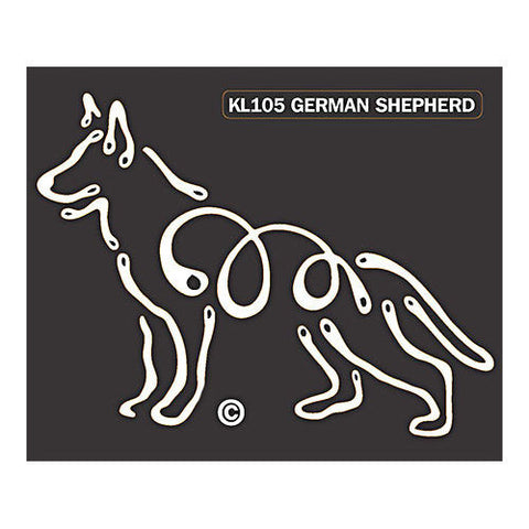 German Shepherd K Lines Window Decal Tattoo