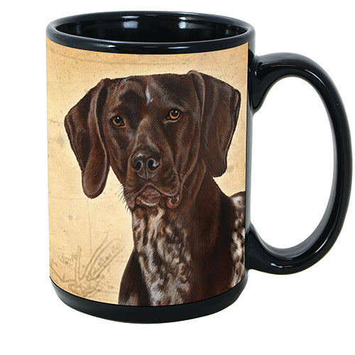 Faithful Friends German Shorthaired Pointer Dog Breed Coffee Mug