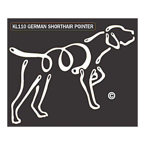 K Line German Shorthaired Pointer Dog Car Window Decal Tattoo