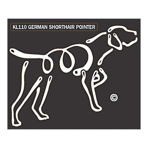 German Shorthaired Pointer K Lines Window Decal Tattoo