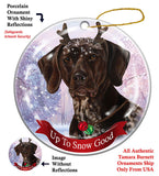 German Shorthair Pointer Howliday Dog Christmas Ornament