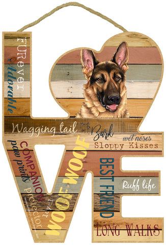 German Shepherd Love Sign