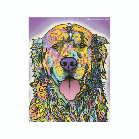 Golden Retriever Dean Russo Vinyl Dog Car Sticker