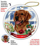 Golden Retriever Howliday Dog Christmas Ornament