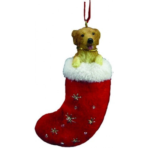 Santa's Little Pals Golden Retriever Christmas Ornament