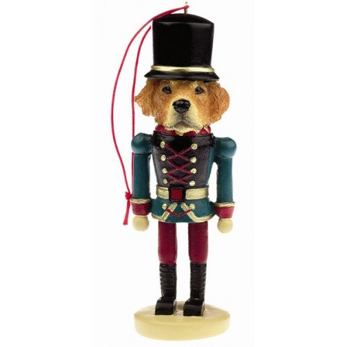 Golden Retriever Dog Toy Soldier Ornament