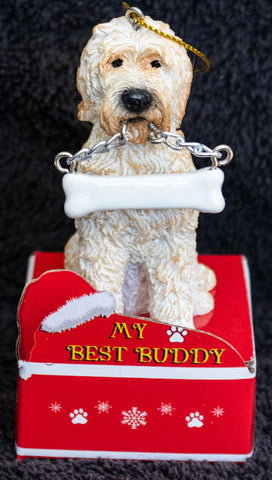Goldendoodle Statue Best Buddy Christmas Ornament