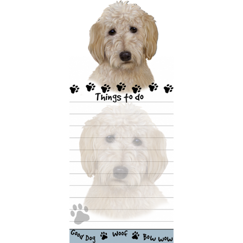 Goldendoodle List Stationery Notepad