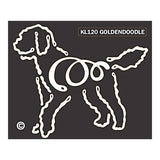 K Line Goldendoodle Dog Car Window Decal Tattoo