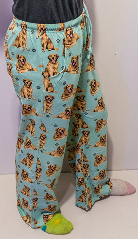 Golden Retriever Unisex Pajama Pants