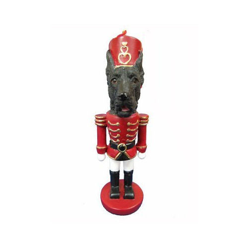 Great Dane Black Dog Toy Soldier Nutcracker Christmas Ornament