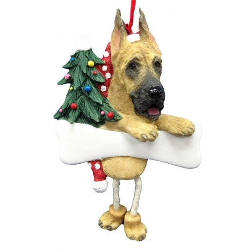 Dangling Leg Great Dane Dog Christmas Ornament