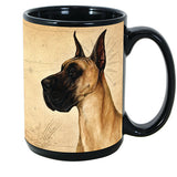 Faithful Friends Great Dane Fawn Cropped Dog Breed Coffee Mug