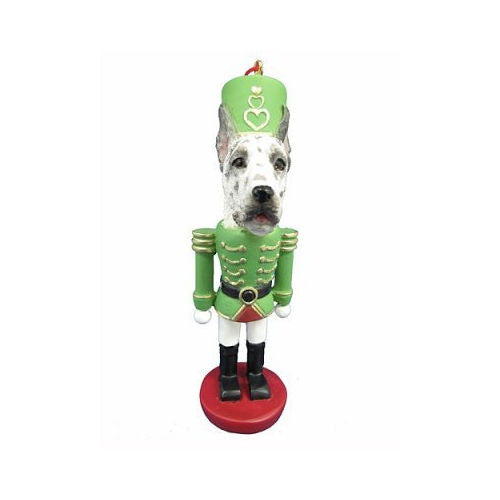Great Dane Harlequin Dog Toy Soldier Nutcracker Christmas Ornament