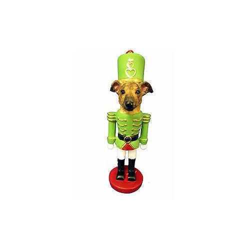 Greyhound Brindle Dog Toy Soldier Nutcracker Christmas Ornament