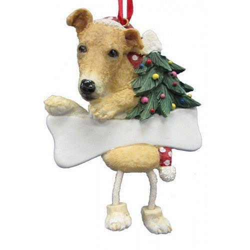 Dangling Leg Greyhound Dog Christmas Ornament