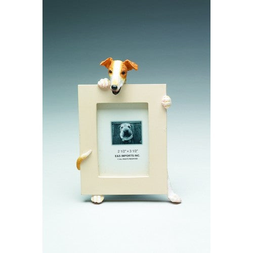 Greyhound Fawn Dog Picture Frame Holder