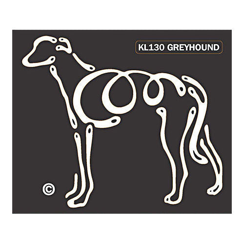 K Line Greyhound Dog Car Window Decal Tattoo