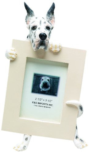 Harlequin Great Dane Dog Picture Frame Holder