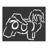K Line Havanese Dog Car Window Decal Tattoo
