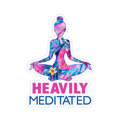 Heavily Meditated Yoga Vinyl Sticker