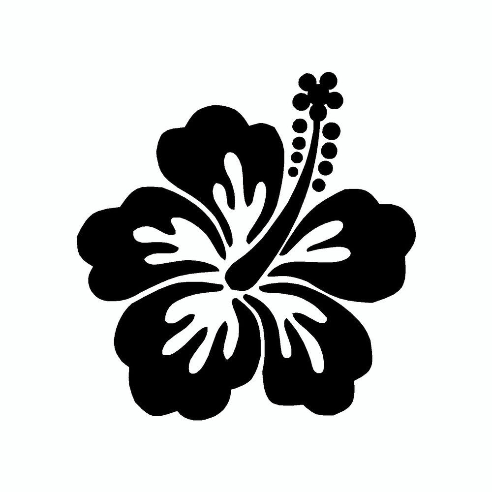 Hibiscus Flower Vinyl Car Sticker