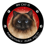 Himalayan Cat My Best Friend Dog Breed Magnet