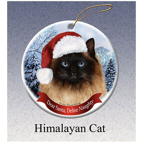 Himalayan Cat Howliday Cat Christmas Ornament