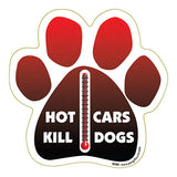 Hot Cars Kill Dogs Dog Paw Magnet