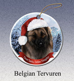 Belgian Tervuren Howliday Dog Christmas Ornament