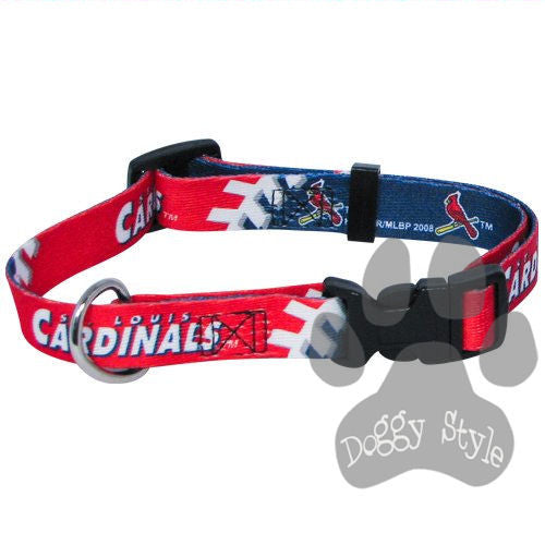 Officially Licensed MLB St. Louis Cardinals Premium Baseball Dog Collar