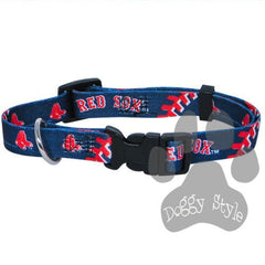 Officially Licensed MLB Boston Red Sox Premium Baseball Dog Collar
