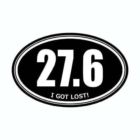 I Got Lost 27.6 Black Marathon Vinyl Car Decal