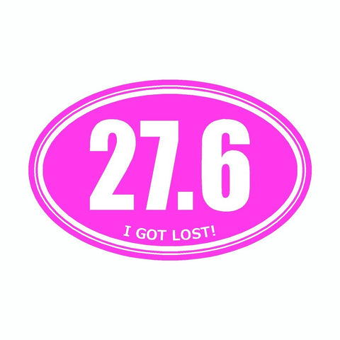 I Got Lost 27.6 Pink Marathon Vinyl Car Decal