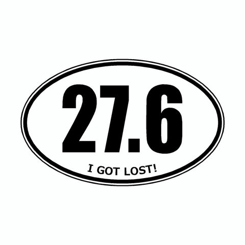 I Got Lost 27.6 White Marathon Vinyl Car Decal