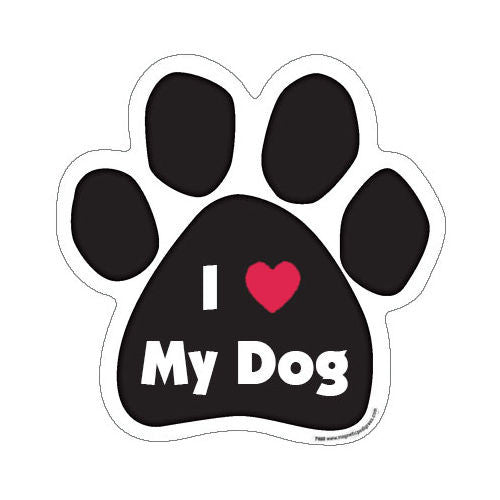 I Love Heart My Dog Paw Magnet