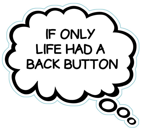 If Only Life Had A Back Button Brain Fart Car Magnet