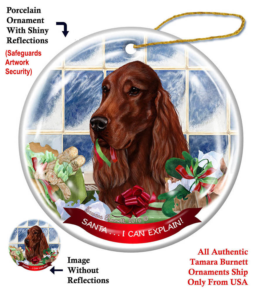 Irish Setter Howliday Dog Christmas Ornament
