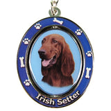 Irish Setter Dog Spinning Keychain