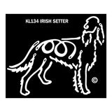 K Lines Irish Setter Dog Car Window Decal Tattoo