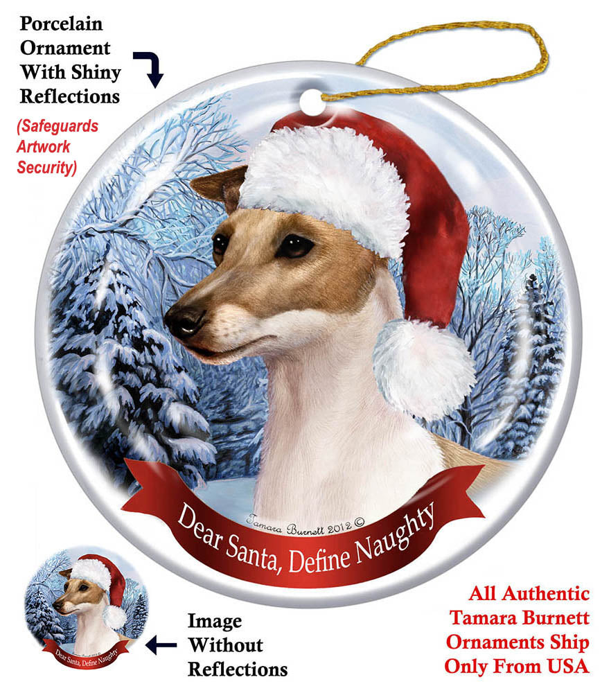 Italian Greyhound Fawn Howliday Dog Christmas Ornament